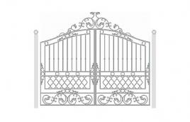 Ворота кованые эскиз: экв-411