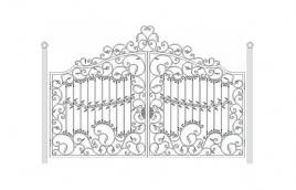 Ворота кованые эскиз: экв-412