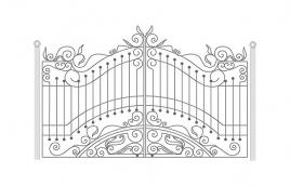 Ворота кованые эскиз: экв-413