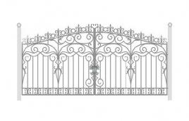 Ворота кованые эскиз: экв-414