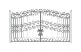 Ворота кованые эскиз: экв-415