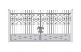 Ворота кованые эскиз: экв-416