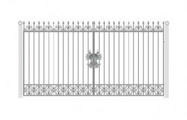 Ворота кованые эскиз: экв-417