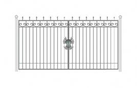 Ворота кованые эскиз: экв-418