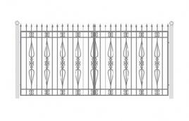 Ворота кованые эскиз: экв-419