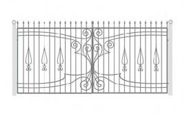 Ворота кованые эскиз: экв-420