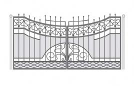 Ворота кованые эскиз: экв-421