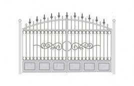 Ворота кованые эскиз: экв-422