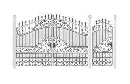 Ворота кованые эскиз: экв-423