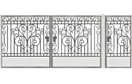 Ворота кованые эскиз: экв-424