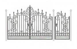 Ворота кованые эскиз: экв-425