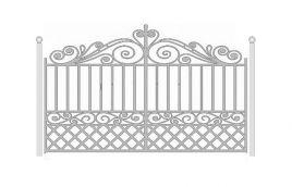 Ворота кованые эскиз: экв-428