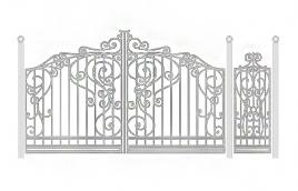 Ворота кованые эскиз: экв-427