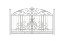 Ворота кованые эскиз: экв-406