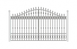 Ворота кованые эскиз: экв-431