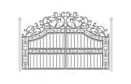 Ворота кованые эскиз: экв-432