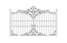 Ворота кованые эскиз: экв-433