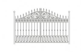 Ворота кованые эскиз: экв-434