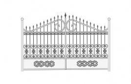 Ворота кованые эскиз: экв-435