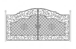 Ворота кованые эскиз: экв-436