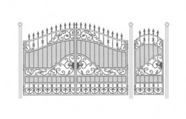 Ворота кованые эскиз: экв-438