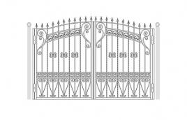 Ворота кованые эскиз: экв-439