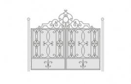 Ворота кованые эскиз: экв-440