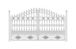 Ворота кованые эскиз: экв-441