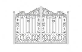 Ворота кованые эскиз: экв-442