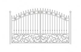 Ворота кованые эскиз: экв-443