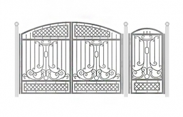 Ворота кованые эскиз: экв-444