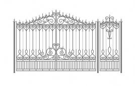 Ворота кованые эскиз: экв-445