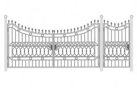 Ворота кованые эскиз: экв-446