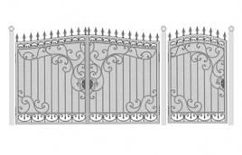 Ворота кованые эскиз: экв-429