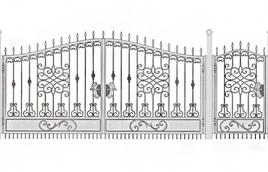 Ворота кованые эскиз: экв-426