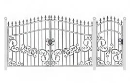 Ворота кованые эскиз: экв-437