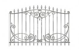 Забор кованый эскиз: экз-201
