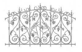 Забор кованый эскиз: экз-202