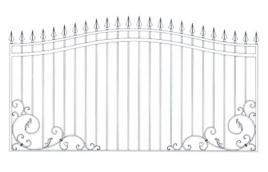 Забор кованый эскиз: экз-203