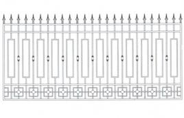 Забор кованый эскиз: экз-204