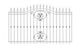 Забор кованый эскиз: экз-205