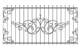 Забор кованый эскиз: экз-206
