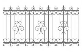 Забор кованый эскиз: экз-207