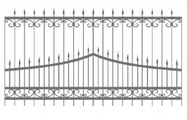 Забор кованый эскиз: экз-208