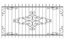 Забор кованый эскиз: экз-209