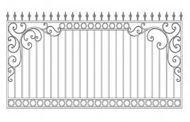 Забор кованый эскиз: экз-210