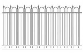 Забор кованый эскиз: экз-211