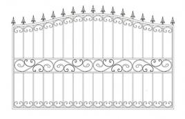 Забор кованый эскиз: экз-212