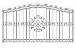 Забор кованый эскиз: экз-213