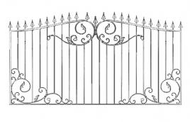 Забор кованый эскиз: экз-214